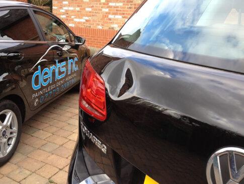 Tailgate Dent 1 (VW Toureg Before)